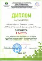Жижин_Юнные исследователи-науке и технике_Томск_2017